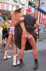 The Hot Ass Cowboys of Times Square (Cowboy Tommy) Tags: nyc newyorkcity hot sexy ass muscles sex cowboys naked nude utilikilt kilt underwear legs boots butt arse buns cheeks timessquare western bottoms mooning stache mustache mounds hiney rebels bubblebutt cowboyboots muttonchops streetpreformer freeballing thenakedcowboy
