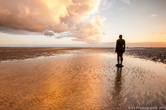 Gormley-4 (RJ Photographic) Tags: sunset sea sculpture seascape water out rj place tide photographic another lowtide anthonygormley 2015 leefilters