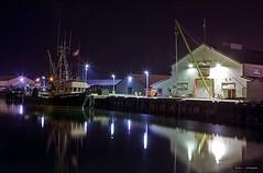 Canadian Fishing Company (Clayton Perry Photoworks) Tags: summer canada night vancouver reflections boats lights fishing bc richmond steveston gulfofgeorgiacannery explorebc explorecanada vancitybuzz