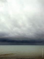 Storm over horizon (rhfo2o - rick hathaway photography) Tags: light sea sky storm rain clouds seaside waves skies westsussex horizon iphone rustington iphone4s rhfo2o