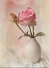 Happy Holiday (BirgittaSjostedt) Tags: stilllife texture rose paint unique pastel gift vase bud ie magicunicornverybest sailsevenseas birgittasjostedt