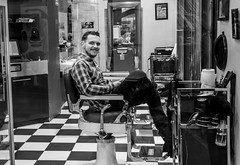The Barber Shop (vandalenmike) Tags: haircut expression barbershop barber happysmile
