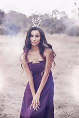 Ellie (Michelle.A.M.) Tags: beauty woodland model purple crown serene brunette gown graceful faerie whimsical
