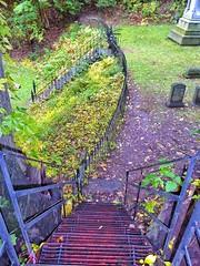 My Hope Cemetary (lwebbshots) Tags: stairs wroughtiron steps goingdown nyupstatefall