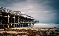 Crystal Pier (pinnacle_ls) Tags: ocean california longexposure vacation us unitedstates pacific sandiego pacificbeach crystalpier pilons greyskies ndfilter