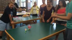 Battle of the Bristlebots (diane horvath) Tags: makerspace bristlebots medfieldtech