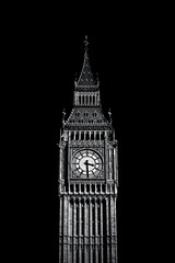 Clock Tower (Skuggzi) Tags: old city uk travel england blackandwhite bw london tower heritage history clock tourism monochrome westminster architecture liberty freedom democracy time unitedkingdom britain gothic culture landmark historic government british tradition iconic cultural