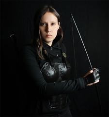 Katniss (shadamai) Tags: halloween diy costume cosplay bow arrows bodyarmor katniss hungergames katnisseverdeen mockingjay