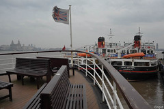 Three Ferries at Seacombe (nicknpd) Tags: ferry liverpool river boats daffodil unionjack liver ferries cunard mersey snowdrop 3graces seacombe royaliris 3ferries