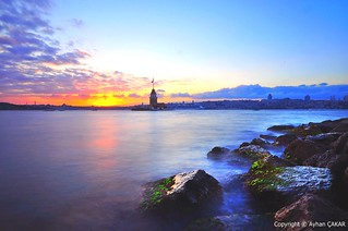 Sunset Maiden's Tower Istanbul