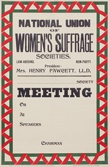 Suffrage meetings and events: National Union Of Women's Suffrage Societies (NUWSS). Law- Abiding Non-Party1911-1917