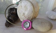 Silkscreen pendant (katerina66) Tags: handmade jewellery polymerclay silkscreen pendant polymer handmadejewellery bunacord κολιέ κοσμήματα χειροποίητο πολυμερικόσάργιλοσ