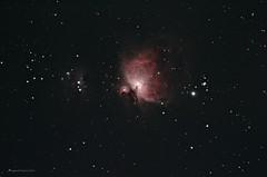 M42 and Running man nebula (Themagster3) Tags: night nebula astrophotography m42 astronomy nightsky deepspace deepsky