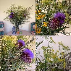 Zo! Veldboeketje geplukt. Takken van meer... (Marcel van Gunst) Tags: flowers flower nature flora wildflowers blume bloemen bloem boeket bijvoet venkel artisjok boerenwormkruid wildepeen kardoen veldboeket uploaded:by=flickstagram instagram:photo=105083855420612381355328948 instagram:venuename=casaanthonius instagram:venue=675247833