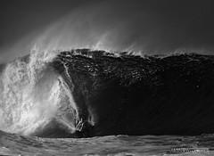 Black Friday (McSnowHammer) Tags: ocean bw beach sports water ir mono hawaii break jamie oahu action north surfing shore northshore obrien infrared job pipeline bigwave whoisjob
