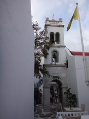 Campanario de la iglesia Mitropol. Chora. Isla de Mikonos. Grecia (escandio) Tags: grecia chora mikonos 2015 cicladas islademikonos