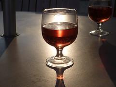 P1000544_2196 (Magpic 1) Tags: light reflection relax wine wineglass redwine summerevening ros warmevening ontheverandah twoglassesofwine lightthroughcurvedglass