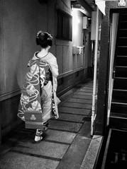 Faisal chasing the Geisha @ Pontocho-Gion   Kyoto (-Faisal Aljunied-) Tags: bwstreet streetphotography alley kyoto gion pontocho geisha ricohgr faisalaljunied