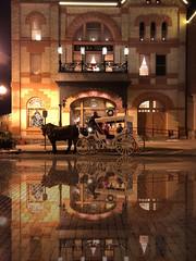 Opera House And Carriage (mckenziemedia) Tags: operahouse opera house carriage horse driver vintage historical historic woodstocksquare onlywoodstock woodstock illinois reflection windows architecture bricks street