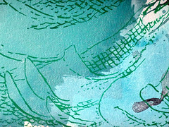 DSC0966900 (scott_waterman) Tags: ink watercolor gouache lotus lotusflower scottwaterman painting paper detail