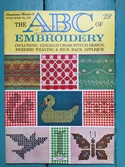 American Thread Star Book 165 (kittee) Tags: kittee vintagecrafts vintage crafts embroidery sampler crossstitch ginghamcrossstitch americanthread starbook nodate 1960s ricracembroidery ricracdesign