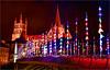 Les lumières de décembre  🎉 December lights (www.nathalie-chatelain-images.ch) Tags: suisse switzerland lausanne cathédrale cathedral nuit night lumières lights drapeaux flags nikon pontbessières