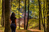 If you ever go to the river (PokemonaDeChroma) Tags: me self selfportrait woman female canon eos 6d woods forest lake backshot autumn fall september 2016 rambouillet france trees hope poem poetry water reflection 24105mm dhwee