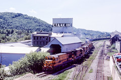 481,St. Johnsbury,  VT, 6-1980 (Rkap10) Tags: locomotives mainecentral other places u18b vermont railroad