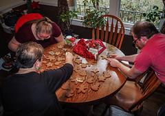 Everyone is busy (raddad! aka Randy Knauf) Tags: raddad6735212 raddad randyknauf raddad4114 randy knauf gingerbreadman gingerbread gingerbreadmen chirstmastradition hickory hickorynorthcarolina family