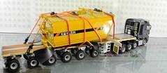 MERCEDES-BENZ AROCS BIG SPACE + FLATBED TRAILER (6 AXLE) - GROHMANN + WATER TANK 777D-006 (Diecasts Collectors Brasil) Tags: mercedesbenz arocs big space slt 8x4 wsi premium line 041175 flatbed trailer 6 axle grohmann power – 9795 water tank 777d