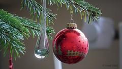 Frohe Weihnachten (Oerliuschi) Tags: christmas weihnachten kugeln glas tannenzweig