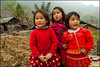 Trio.  Dong Van (Claire Pismont) Tags: viajar vietnam northvietnam pismont clairepismont red kid girl countryside hàgiang documentory travel travelphotography