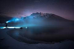 'The Abominable Ice Man' - Lake Minnewanka, Banff (Gavin Hardcastle - Fototripper) Tags: banff lake minnewanka frozen ice steam smoke mist mountains canada canadian rockies cold winter freezing snow