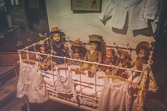 Aren't they creepy? (simonpe86) Tags: horror puppen europapark doll dolls spooky cradle baby children wiege