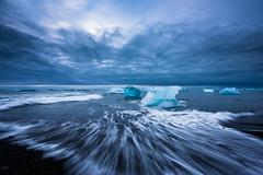 Chunks of Ice II (modesrodriguez) Tags: 2016 iceland islandia landscape paisaje travel viaje jokulsarlon iceberg seascape clouds sky sea sarlon silkeffect