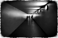 tunnel to the light (kurtwolf303) Tags: canoneos600d monochrome digitalphotography people sw bw tunnel lightshadows menschen leute urbanlifeinmetropolis unlimitedphotos dark dunkel streetphotography strasenfotografie urban availablelight 250v10f topf25 topf50 500v20f topf75 750views topf100 800views kurtwolf303 900views 1000v40f 1500v60f 2000views topf150 topf200