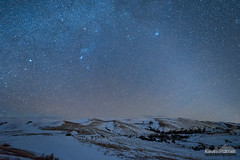 Lodge Trail Ridge Winter (kevin-palmer) Tags: fetterman monument battlefield story wyoming january winter night sky stars starry dark astronomy astrophotography snow cold nikond750 irix15mmf24 lodgetrailridge blue clear
