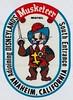 Musketeer Motel - Anaheim - Window Decal (hmdavid) Tags: musketeer motel anaheim art illustration window decal 1960s mouse disneyland california vintage sticker cartoon