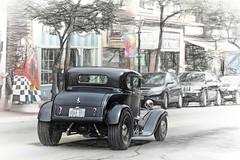 A Photo Sketch Blend (Brian 104) Tags: coupe black hotrod car sketch blend
