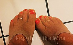 thumbnail_IMG_6760 (thinheaven) Tags: toering toes womens nylon pantyhose stocking footjob polished painted socks footies noshow pedicure nude suntan