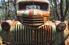 Left behind (holly hop) Tags: maldon centralvictoria rust redrust rustyandcrusty chevrolet truck green htt rustytruck truckthursday greenrust chrome