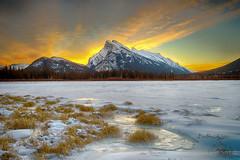 Mt Rundle at Sunrise (jason1990) Tags: mtrundle banff hdr winter colour vermilionlakes sunrise