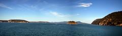 Passing By Blakely Island (Worthing Wanderer) Tags: washington usa sunny summer hot sea mountains islands sanjuanislands orcasisland anacortes eastsound