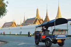 Tuk Tuk-4 (Smiling Albino Stock) Tags: trip thailand day bangkok buddha transport grandpalace tuktuk wat emerald tuk th multi bkk dossier phrakaew