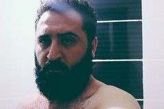 .. (cambazghettostar34) Tags: boy black men faience look hair beard eyes trkiye hard beards istanbul whisker gangsta glance sakal byk turksh