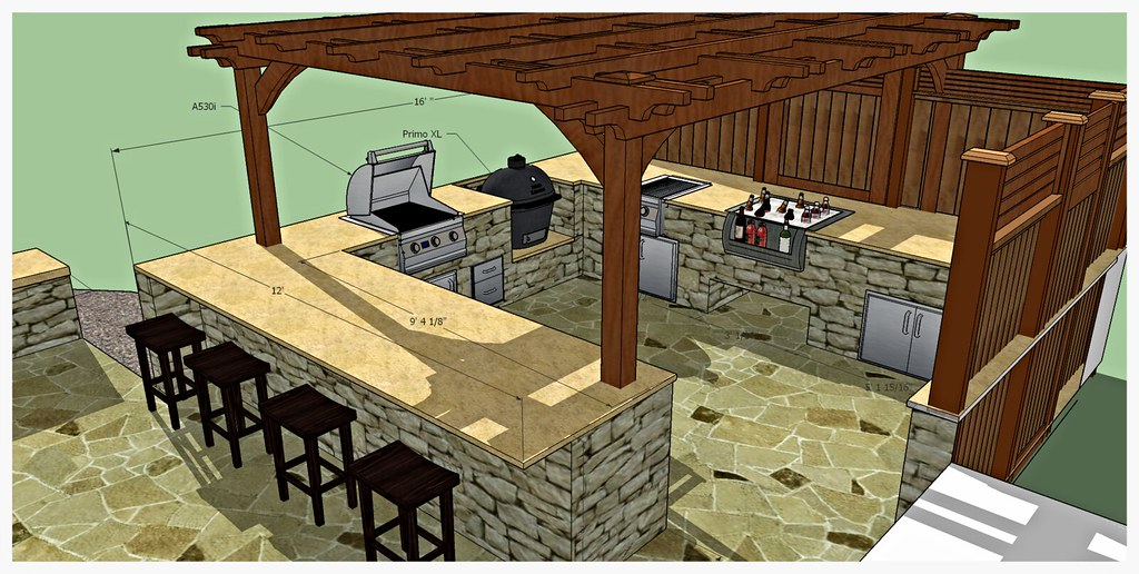 Design for Custom Outdoor Kitchen, Tifftonia, Tn.