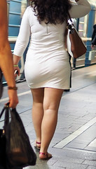 Sexy woman in white dress (Thick'nCurvy Admirer) Tags: ass legs strong thick
