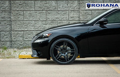 Lexus IS250 - RC8 Matte Black (5) (Rohana Wheels) Tags: wheels toyota rims concave lexus trd luxurycar rohana is250 lexusis250 rc8 luxurywheels fsport rcseries rohanawheels
