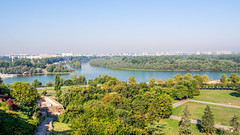 The confluence of the Danube and Sava (zsonemes) Tags: park city travel summer travelling tourism pen river lite europe cityscape riverside capital serbia young scenic sunny olympus traveller belgrade amateur picturesque fortress beograd danube confluence sava hungarian kalemegdan riverscape zd epl5