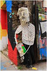 Who Ate The Cornflakes? (Mabacam) Tags: streetart london wall graffiti model stencil mural wallart urbanart shoreditch freehand publicart cornflakes aerosolart spraycanart stencilling eastend 2015 urbanwall junkmodel